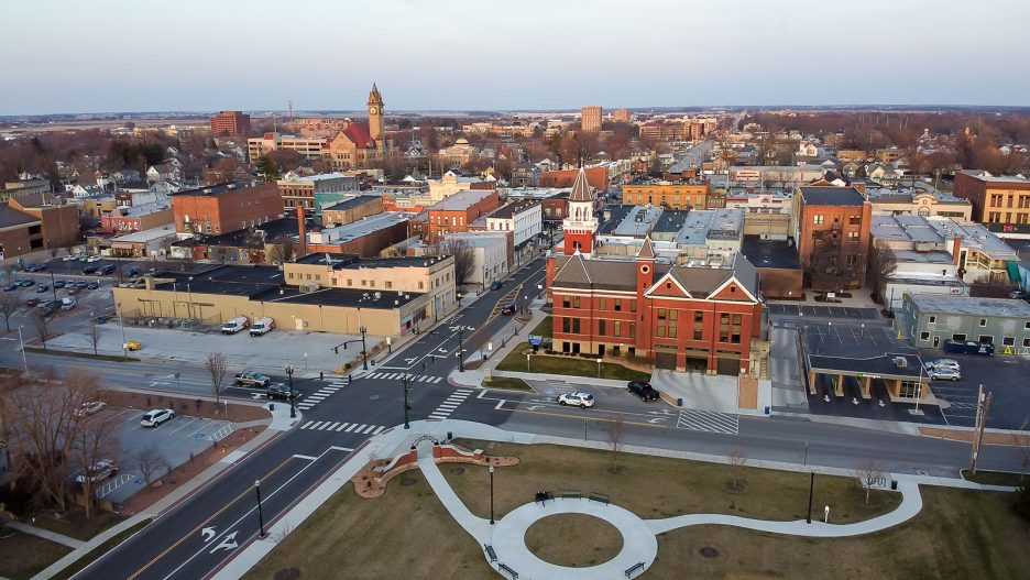 Aerial view of Bowling Green, OH