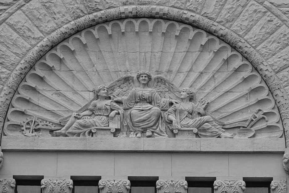 Wood County courthouse architectural facade