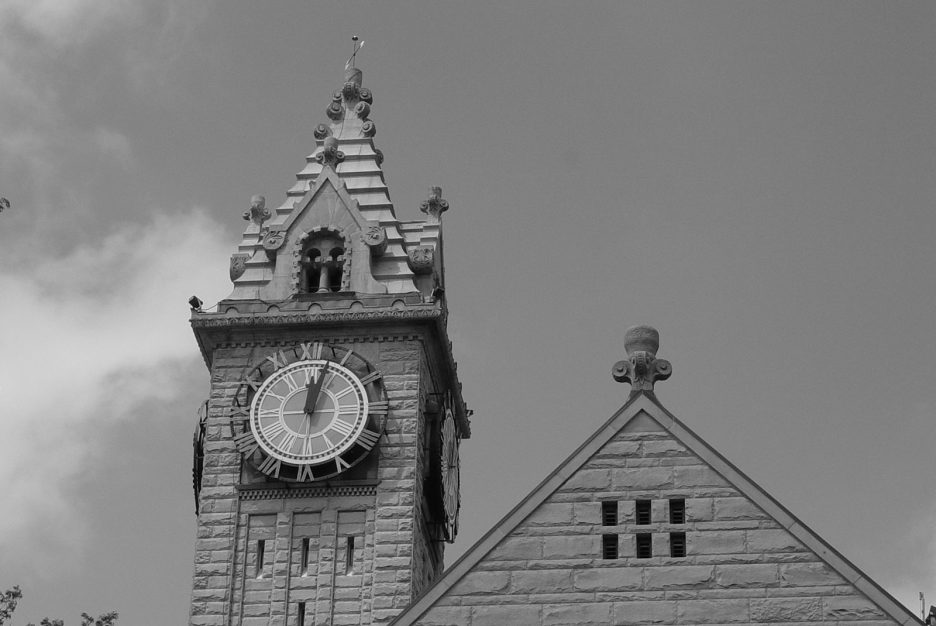 Wood County clock tower